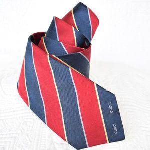 Vintage GUCCI silk stripe logo neck tie